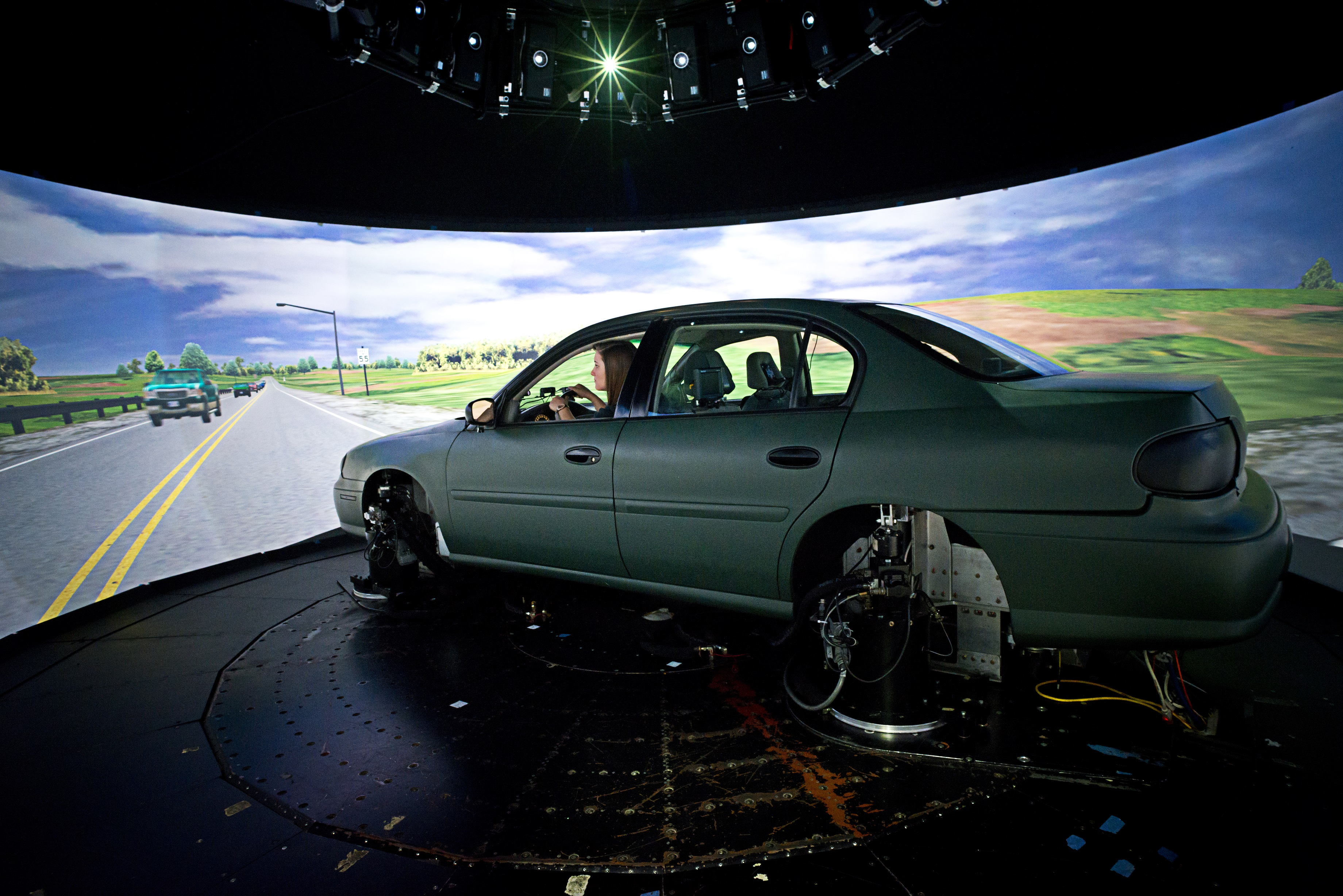 Truck Cab Inside >> The National Advanced Driving Simulator - The NADS-1